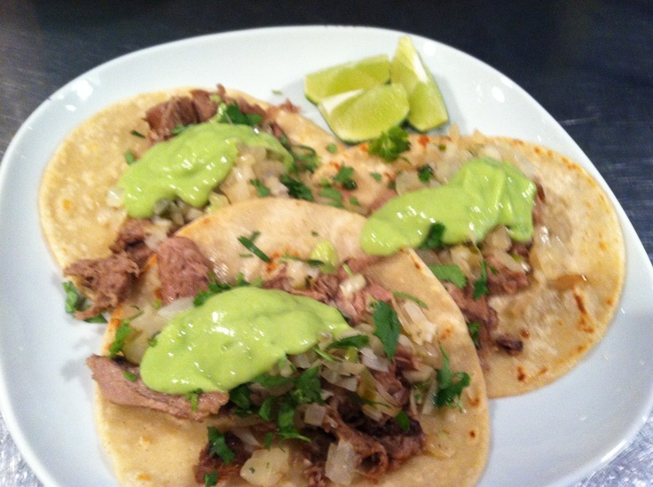 Beef Tacos de Lengua | Our Cuisine at The Brothers Moon | Pinterest