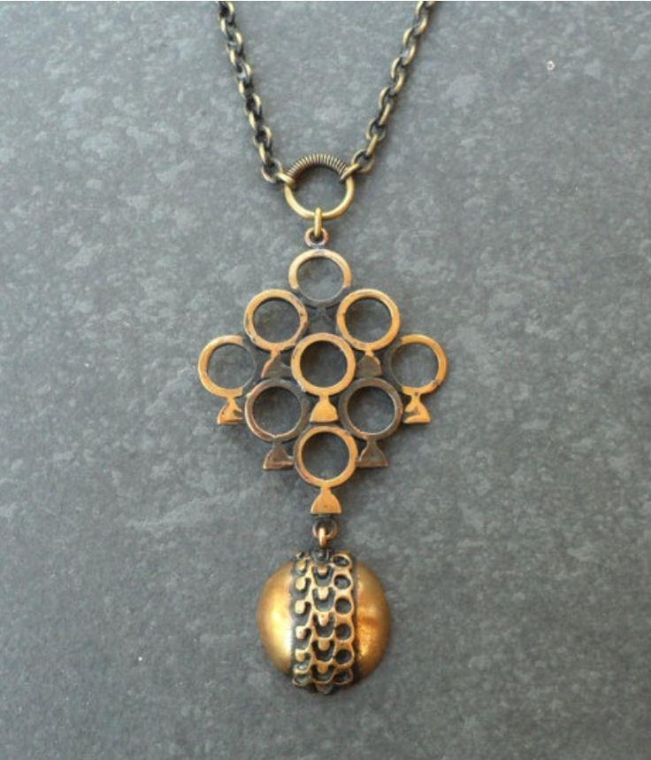 #forsale > Pentti Sarpaneva, vintage modernist bronze pendant, 1970's. #Finland | finlandjewelry.com
