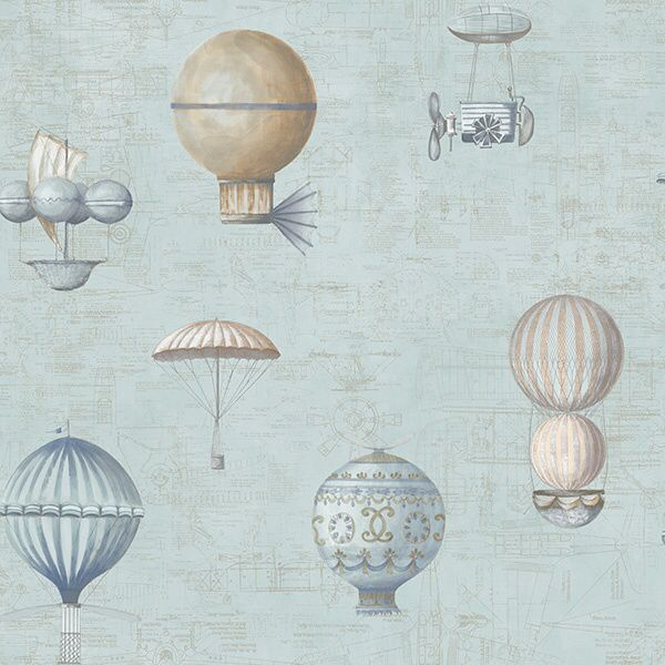 Wallpaper G56200 with hot air ballons from Steampunk, Galerie.