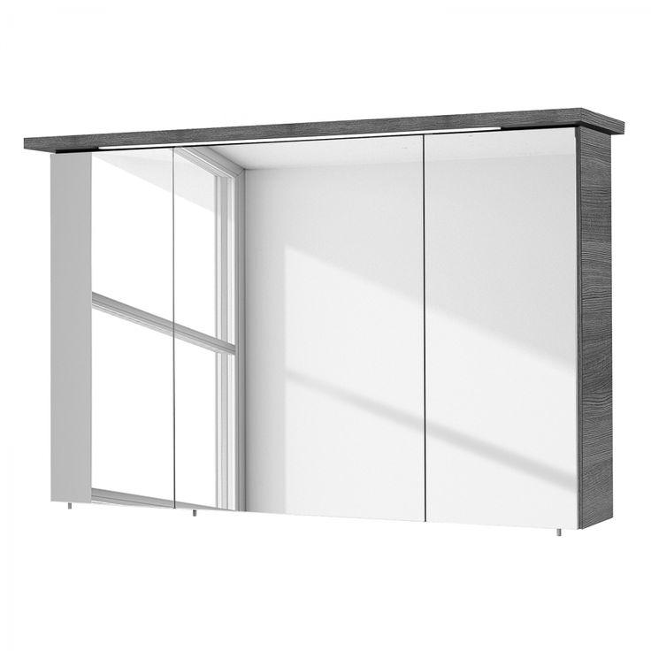 Mirror cabinet Alika (incl. Lighting) - graphite - 115 cm