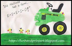 tractor vlak schilderen met voetafdruk