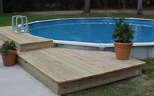 Above Ground Pool Deck Kits | Above Ground Swimming Pool Kit Installation and Construction