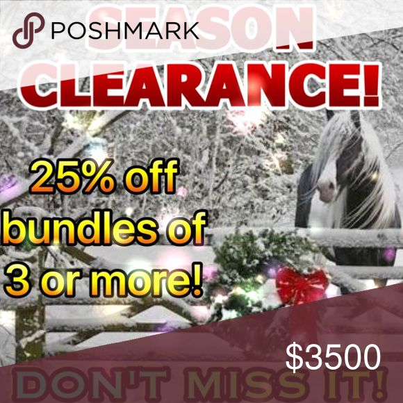 SEASON CLEARANCE SALE STARTS NOW! BUNDLES OF THREE OR MORE! HUGE SAVINGS ON BRAND NEW, HIGH QUALITY FASHION! tla2 Other