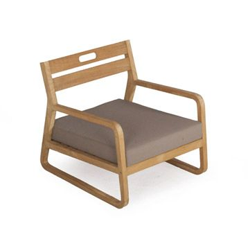 chaise basse de jardin en bois resort naturel leroy. Black Bedroom Furniture Sets. Home Design Ideas