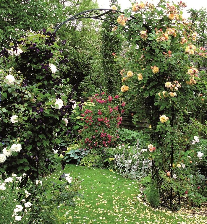 Our classic Roman Rose Arch 'Bagatelle' is renown for it's superior quality and elegant design, a synthesis of style and strength. Featuring simple lines and good proportions, forged and handcrafted, galvanized steel with black powder coating to create a Rose Arch of exceptional quality. www.classicgardenelements.ie