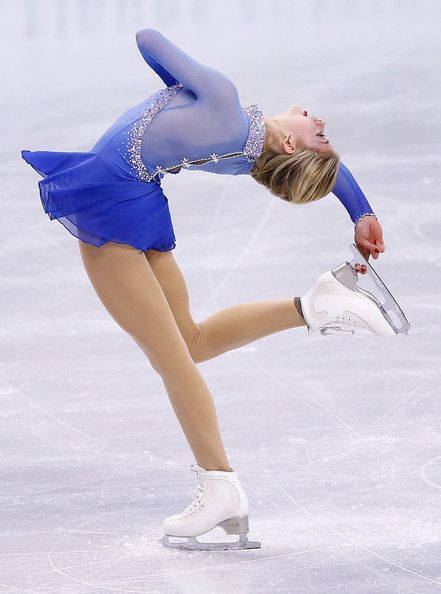 Gracie Gold 2014, Blue Figure Skating / Ice Skating dress inspiration for Sk8 Gr8 Designs