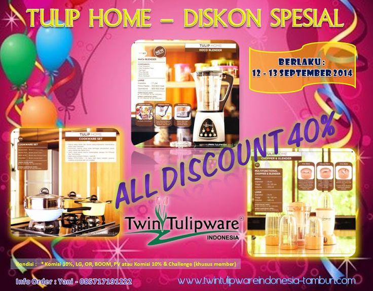 Tulip Home Diskon Spesial 40% + 10% | Twin #Tulipware SC. Tambun