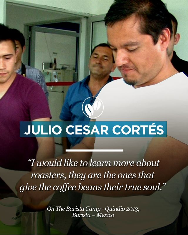 """From Mexico, the barista Julio Cesar Cortés talked about the """"True Soul"""" of coffee. Get more interesting info at www.colombiancoffeehub.com"""