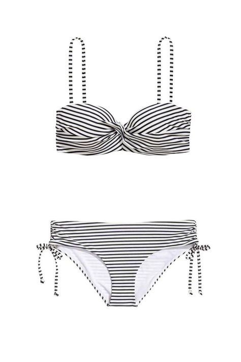 Your Ultimate Swimwear Guide - Looking For A Classic Option? This Bargain Striped Bikini From H&M Could Do The Trick