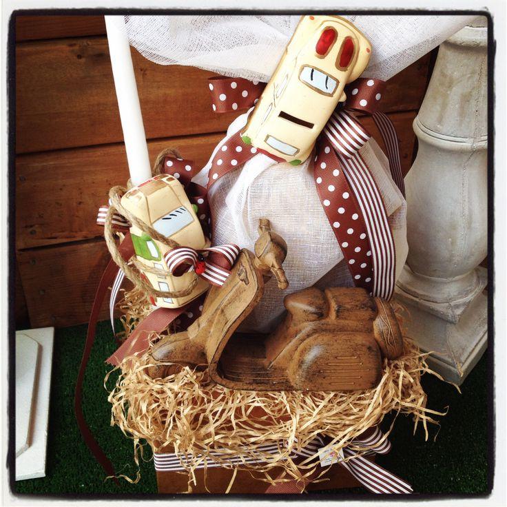 Πασχαλινό κουτί με αυτοκίνητα & βέσπα! Περιέχει σοκολατένιο αυγό & λαμπάδα. www.nikolas-ker.gr