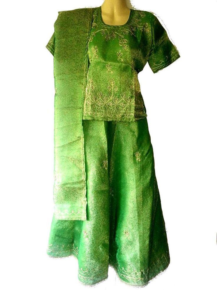 Indische Kleidung Salwar Kameez Bollywood Bluse Rock Lehenga Sari Abendkleid