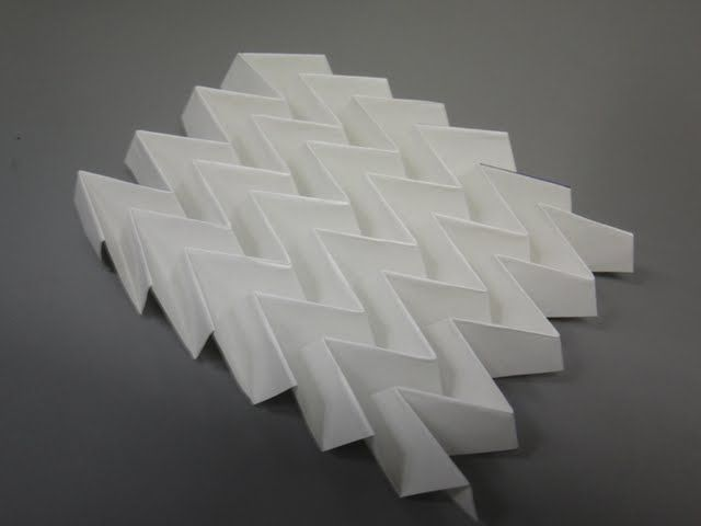 The Miura fold (Miura-ori) is a rigid fold that has been ... - photo#8