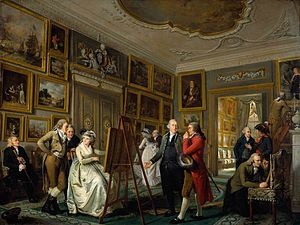 Adriaan de Lelie, The Art Collection of Jan Gildemeester Jansz, 1794-1795.   The Gildemeester family lived at the Herengracht, Amsterdam, but had Frankendael as a manorial estate, for the summertime.    Amsterdam Museum, on loan from the Rijksmuseum Amsterdam
