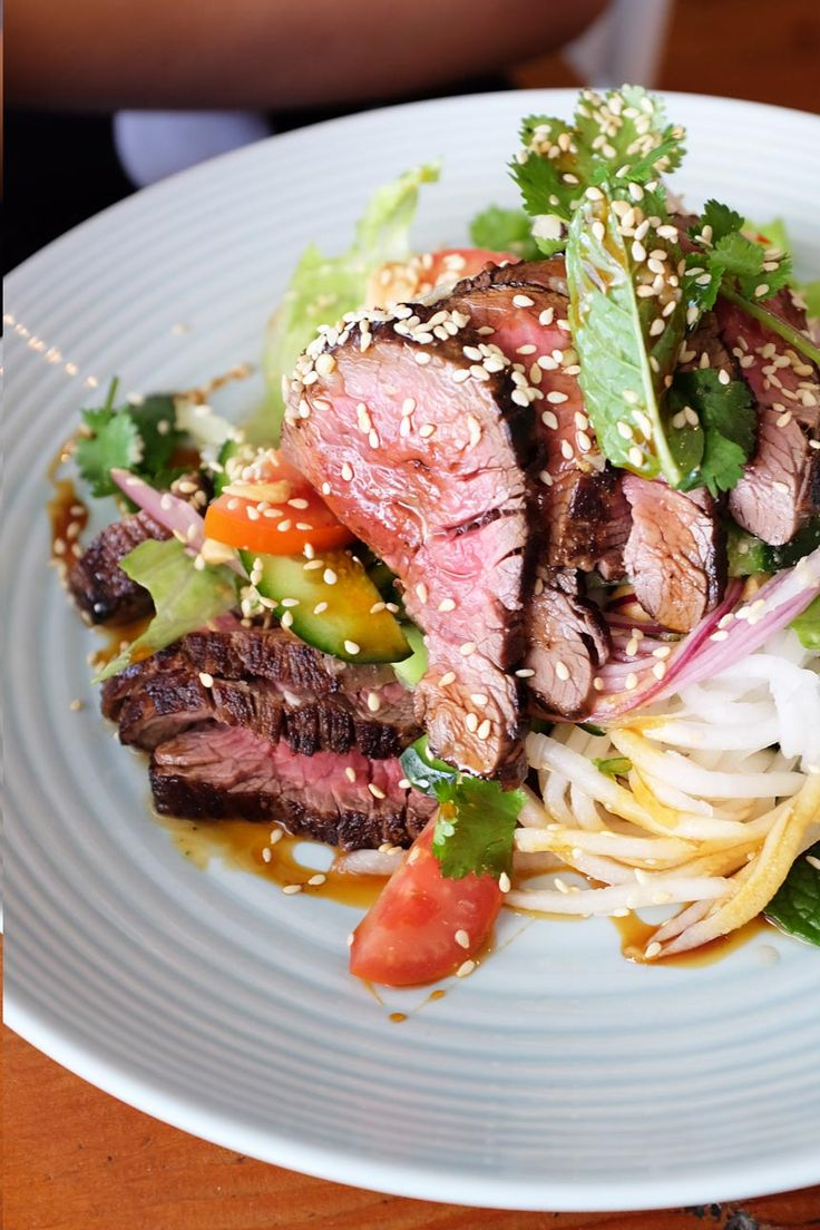 the stranded store, Vietnamese rare beef salad, Colonel Light Gardens