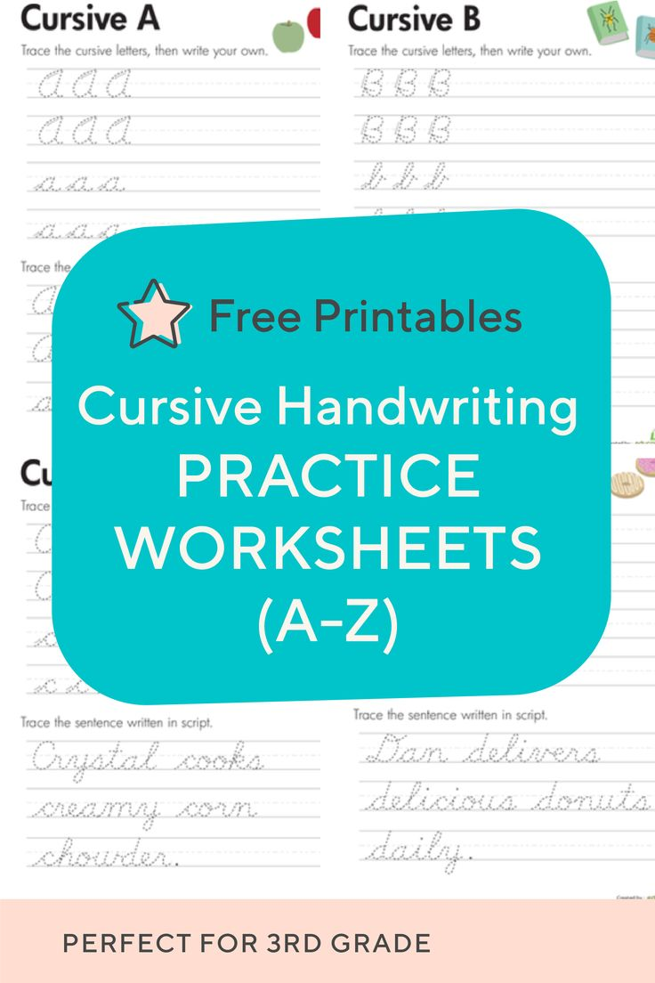 Practice Cursive Letters A Z With Free Cursive Handwriting Worksheets These Are Cursive Handwriting Worksheets Learn Handwriting Cursive Handwriting Practice [ 1104 x 736 Pixel ]
