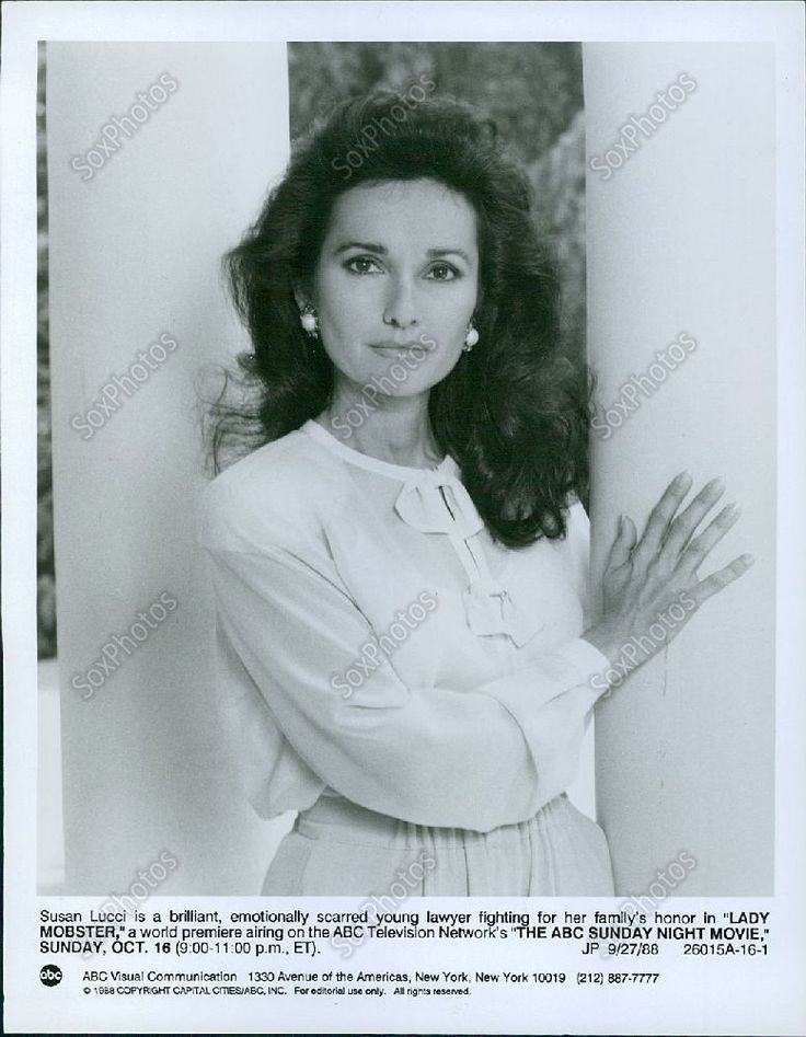 LG69 1988 Movie Lady Mobster Star Susan Lucci Bombshell Portrait Press Photo