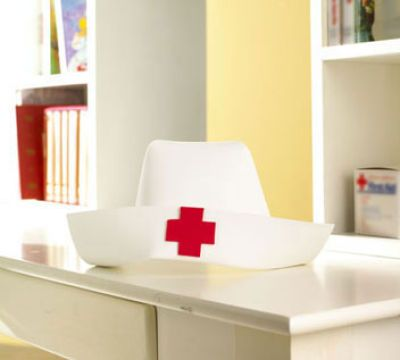 *easy-to-make nurses' cap for graduation party!