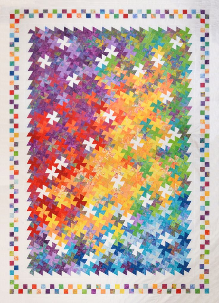 Twist-It quilt by Claudia Pfeil | Auribuzz