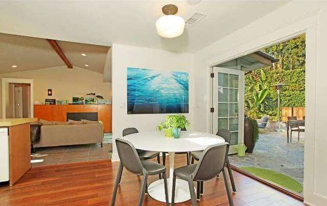 This sun-soaked beach-chic bungalow in the exclusive Rustic Canyon of Santa  Monica, just blocks from the beach,is ready for your next film or  television production.