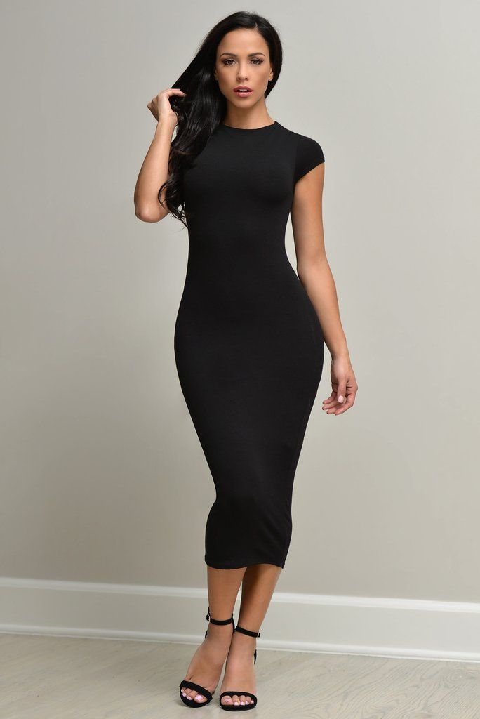 FREE SHIPPING OVER $75 & FREE RETURNS ON US ORDERS This short sleeve number is the softest and most comfortable dress,Bodycon silhouette shows off your curves as it reaches a chic, midi length and dou