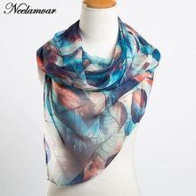Neelamvar mode bladeren printing lange georgette sjaal vrouwen zijden sjaals nieuwe 2017 Herfst Winter meisjes shawl echarpe uit india(China (Mainland))
