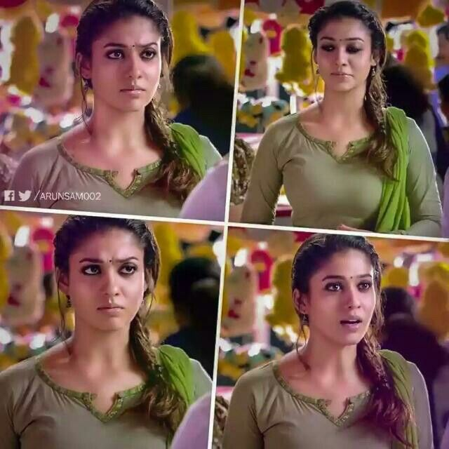 How many cute reactions on a single scene..!!  That's the speciality of our #ladySuperStar, #Nayanthara