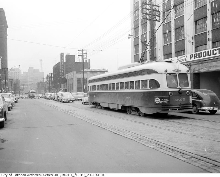 TTC streetcar, circa 1954. All I know at this point ...