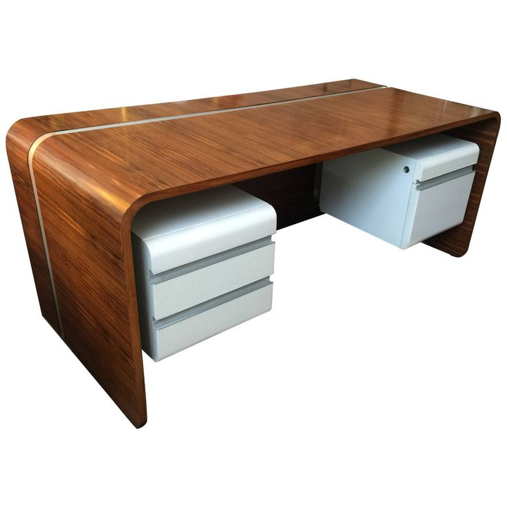 Important Michel Boyer Waterfall Desk For The Banque Rothschild, Paris 1