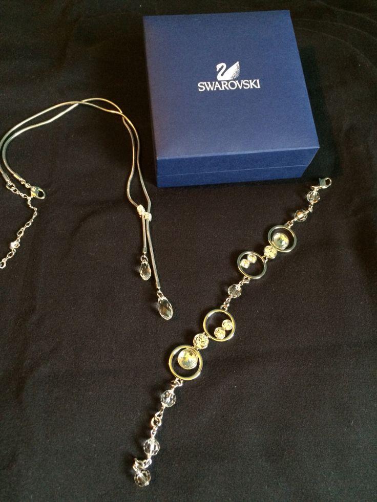 Swarovski necklace & bracelet