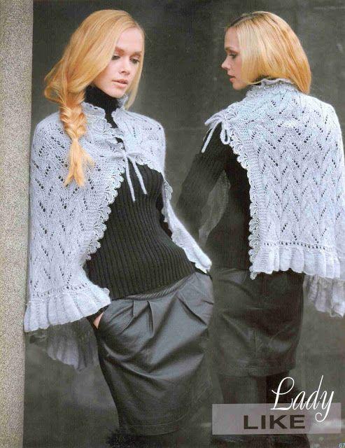 Patrón #1367: Poncho a Dos Agujas | CTejidas [Crochet y Dos Agujas]