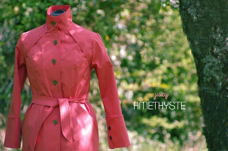 Ivanne.S   # Grains de Couture – Trench AMETHYSTE de printemps