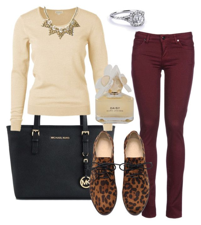 """young teacher outfit #2"" by womack470 on Polyvore featuring Michael Kors, 8, Banana Republic and Marc by Marc Jacobs"