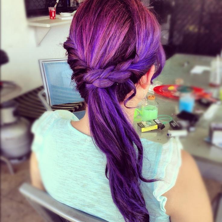 galaxy color hair