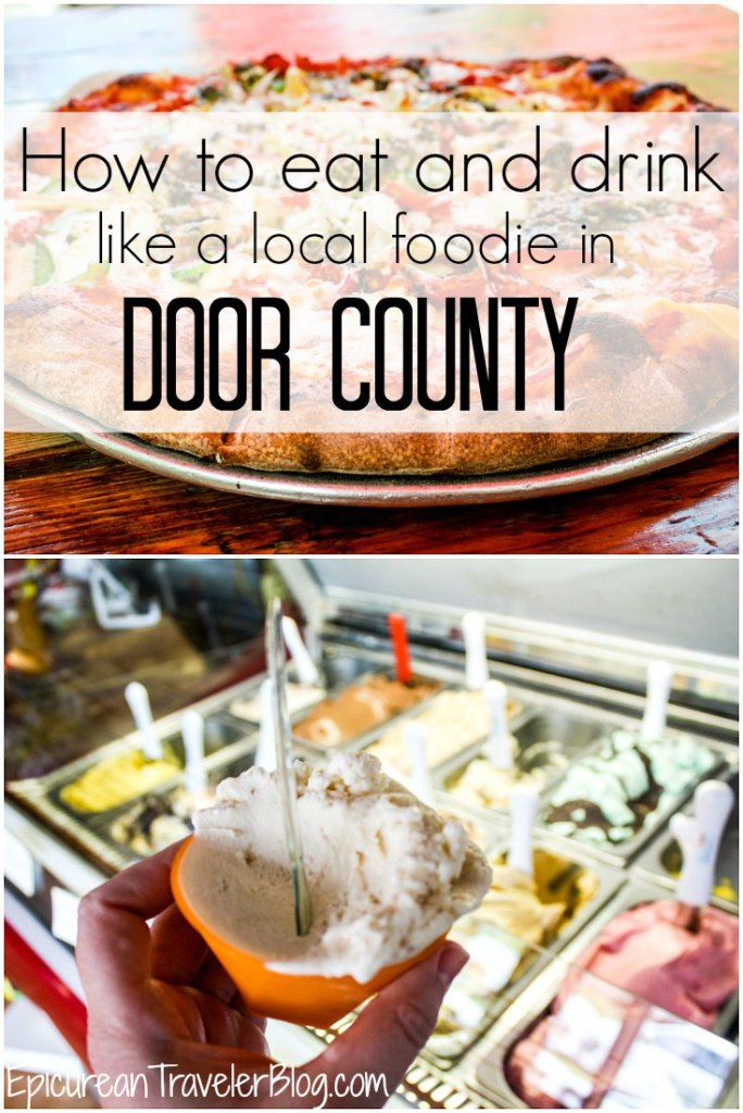 Want to eat and drink where the local foodies do in Wisconsin's Door County? This post compiles recommendations from local foodies, cooks, restaurant workers, and tourism professionals who eat, live and work in Door County!