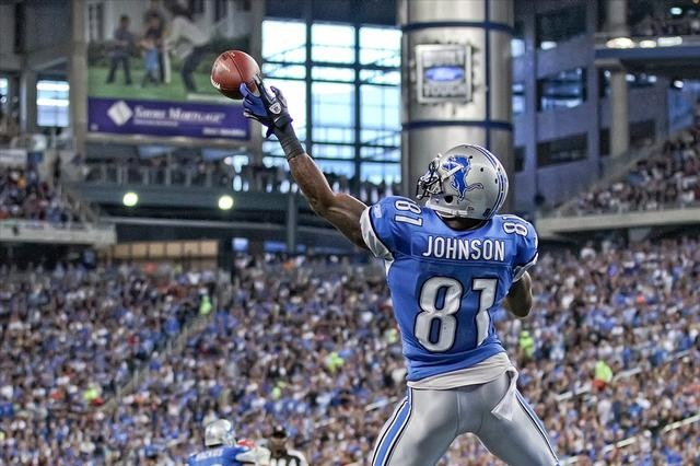 What the Lion's game plan should always be: throw ball long and high to Johnson in triple coverage.  LIONS WIN!