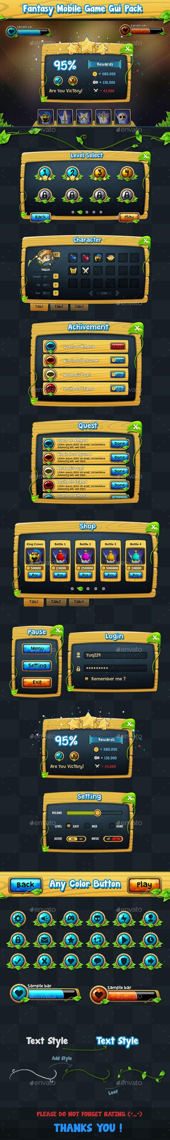 Fantasy Game Gui Pack v2 - User Interfaces Game Assets