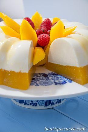 Gelatina de mango y Queso Crema