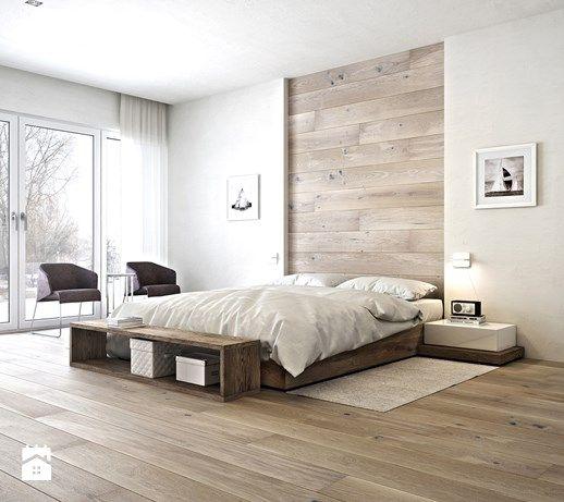 Aranżacje wnętrz - Sypialnia: Sypialnia styl Minimalistyczny - Barlinek. Przeglądaj, dodawaj i zapisuj najlepsze zdjęcia, pomysły i inspiracje designerskie. W bazie mamy już prawie milion fotografii!