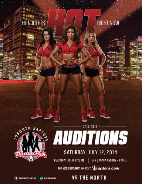 2014-15 Raptors Dance Pak Auditions July 12