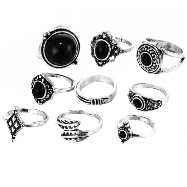 Zest Midi Ring Set ($6.48) ❤ liked on Polyvore featuring jewelry, rings, silver plated rings, top finger rings, silver plated jewelry, mid knuckle rings and midi rings