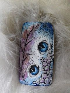 Hand painted pendant goodartday.blogspot.com