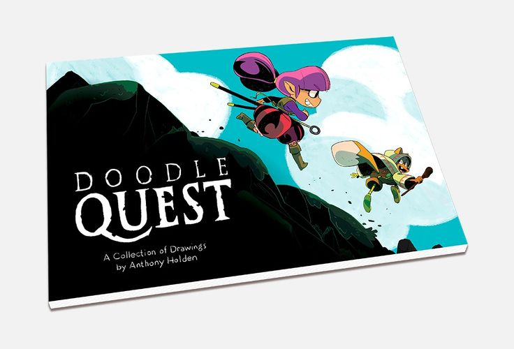 Drawing Books :  Image of Doodle Quest: A Collection of Drawings by Anthony Holden