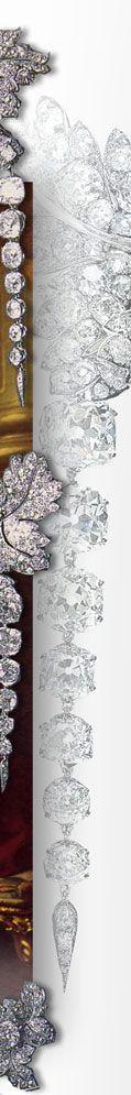 Diamant Johannisbeer Blätter Schmuck Garnitur mit Diamanten der französischen Krone Kronjuwelen Frankreich