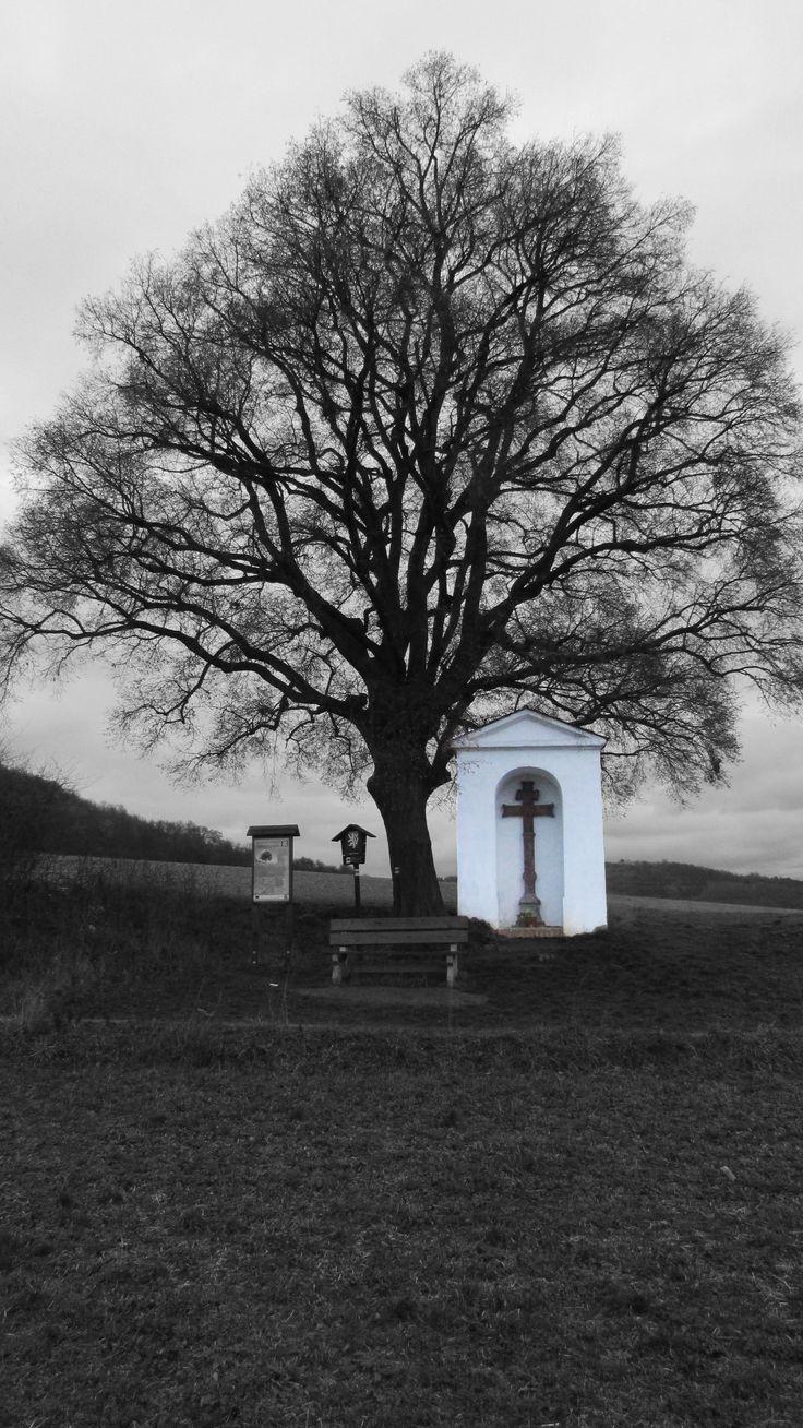 Chapel in winter scenery
