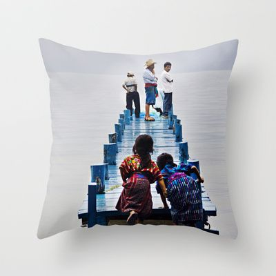 Excited Throw Pillow by LinnB -   also available as art print