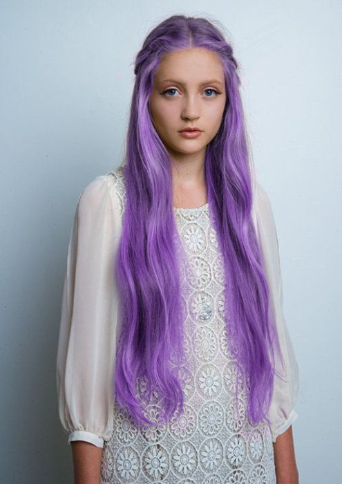 purpleColors Purple, Hair Colors Ideas, Purple Hair, Long Hair, Girls Hairstyles, Princesses Hair, Lilac Hair, Braids Hair, Colors Hair