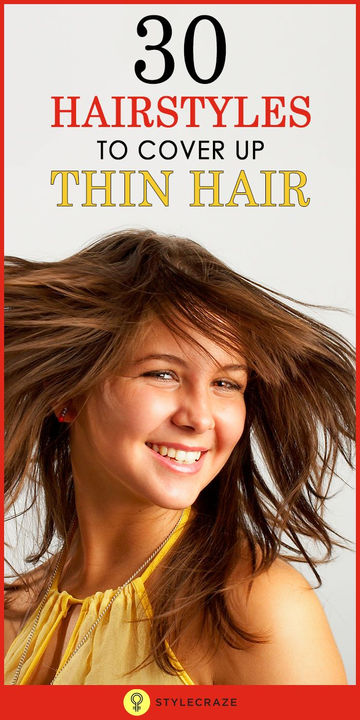Top 30 Hairstyles To Cover Up Thin Hair #Hair