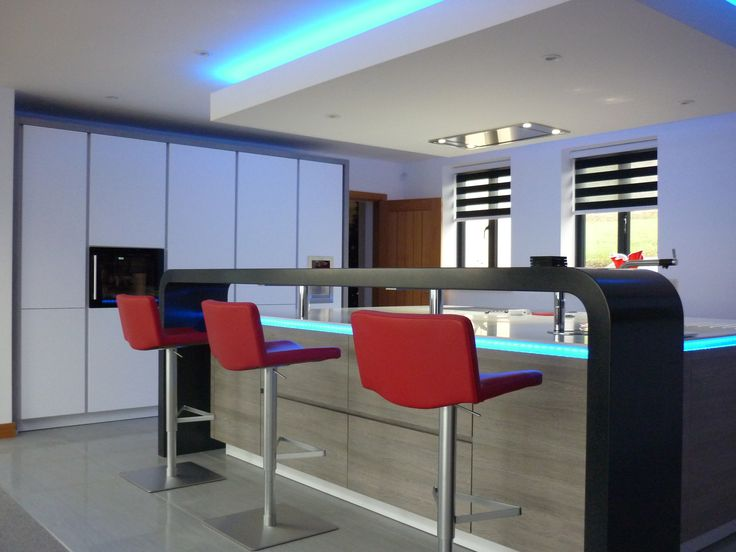 This Stunning Black Corian Raised Bar With Curved Corners Was Fitted By  ALNO Bristol As Part