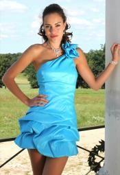 #Flirty#Turquoise#1 Shoulder#Dress