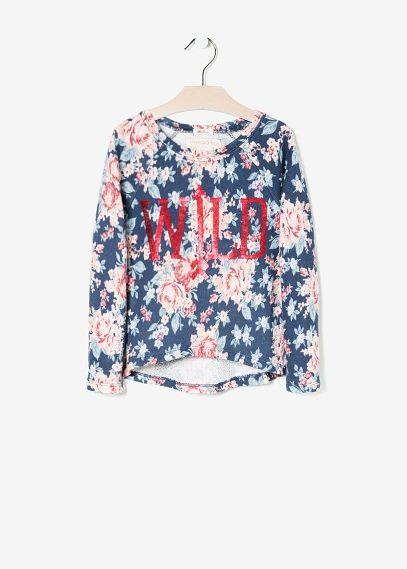 NEW - Gebloemd sweatshirt met pailletten